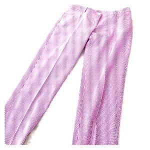 Anne Klein Red & white striped seersucker pants 6